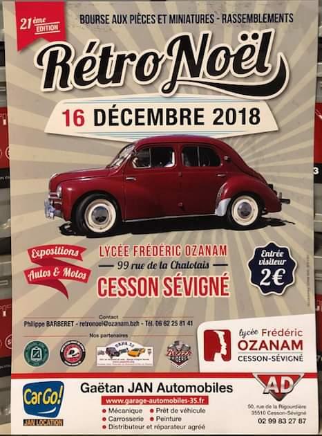 Affiche Rétro Noël Lycée Ozanam
