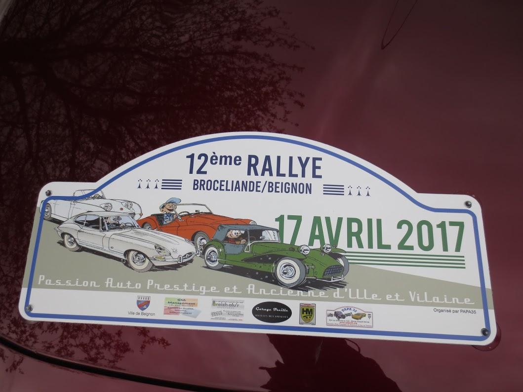 Plaque Rallye