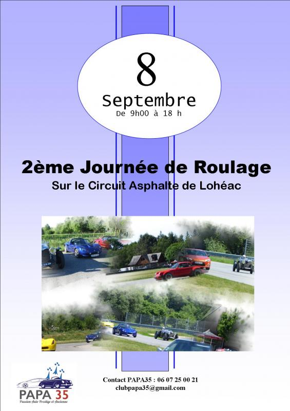 affiche Roulage Circuit